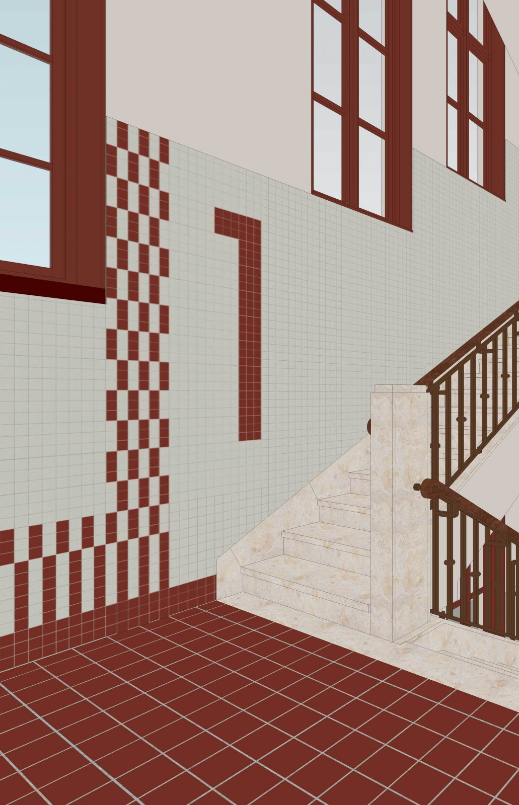 Cadix Va Corridor Staircase