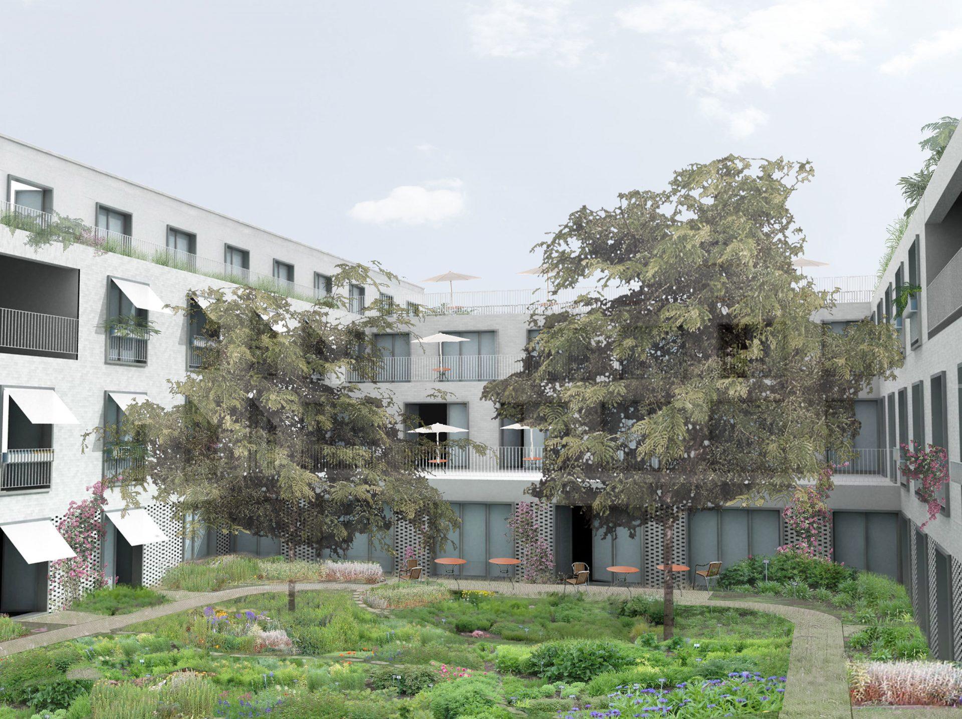Kruishoutem Render Courtyard 3