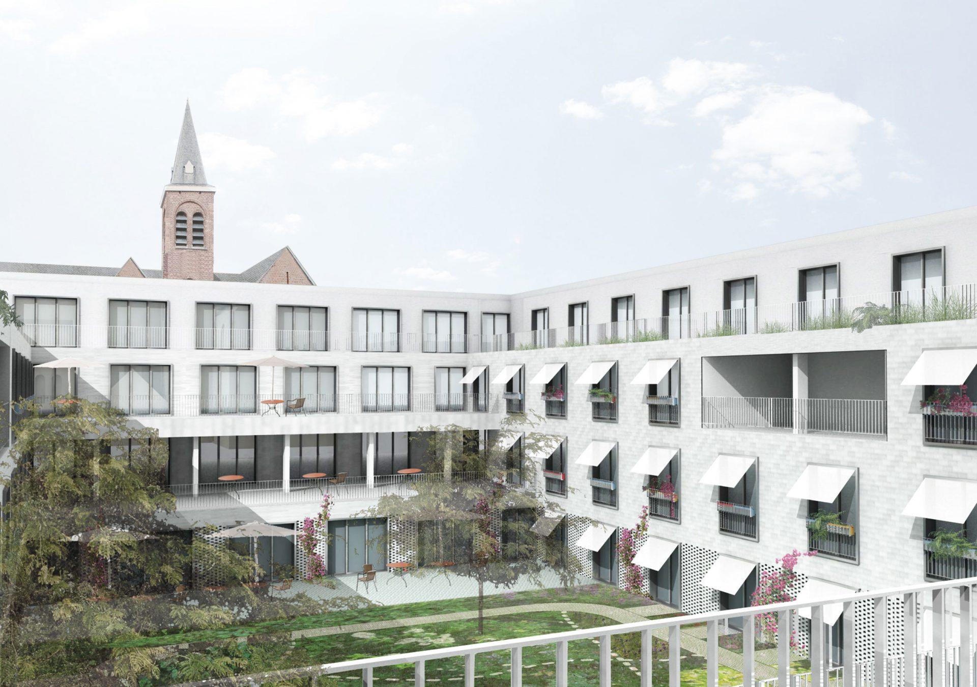 Kruishoutem Render Courtyard