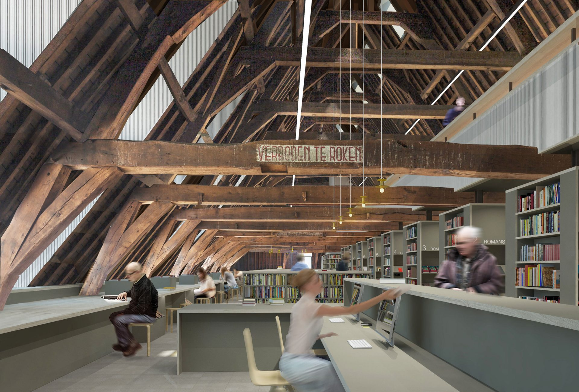 Mechelen Collage Library Reception
