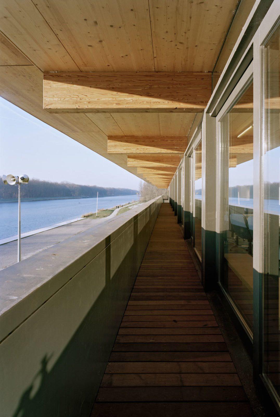 Rowing Building Balcony