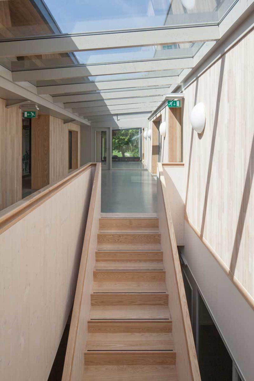 Rowing Building Stair Corridor